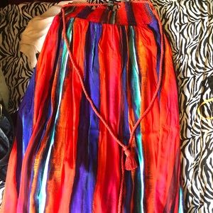 Color Maxi skirt